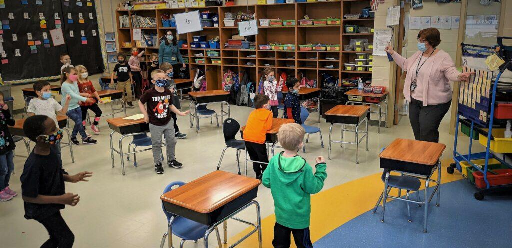 Penn Manor kindergarten class