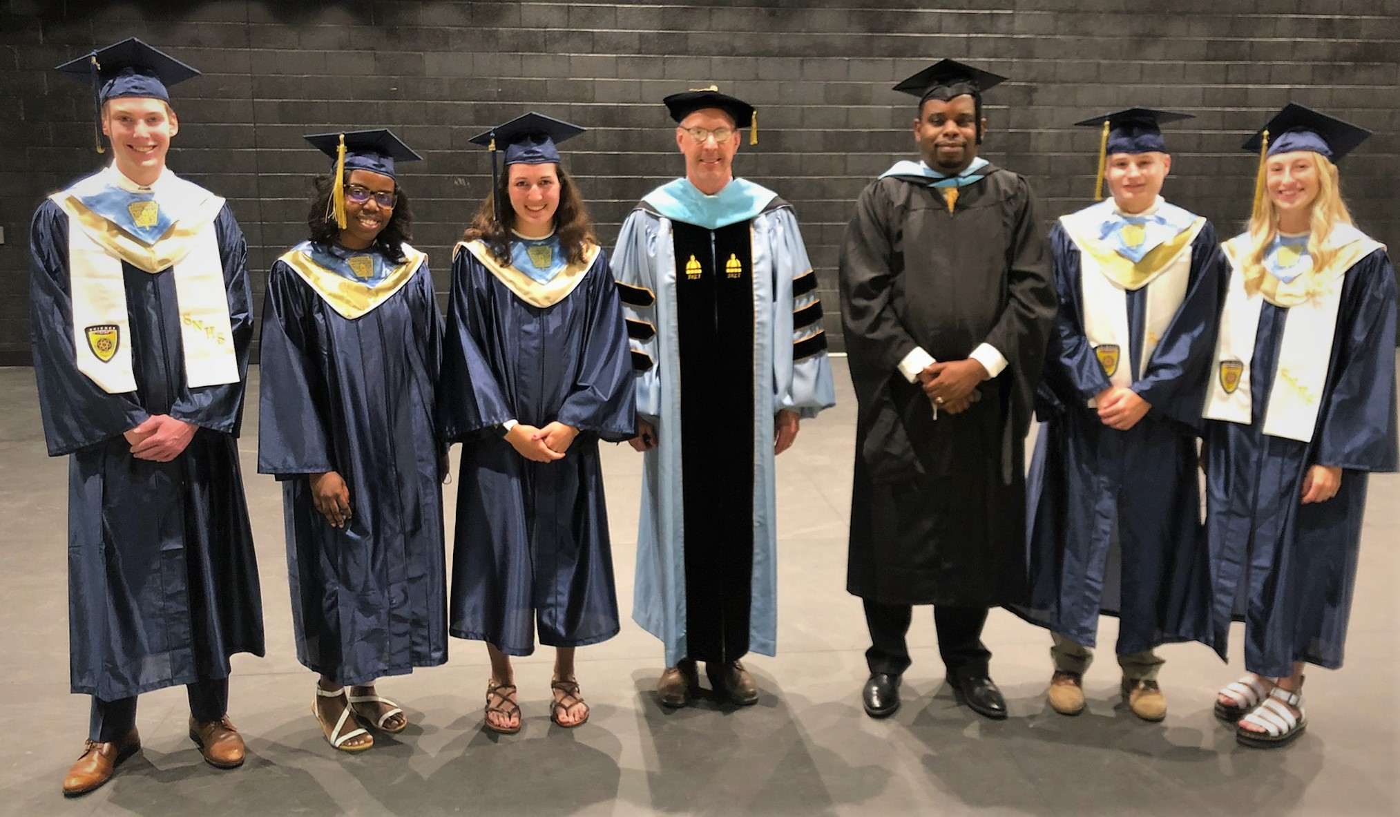 Commencement speakers, principal and superintendent