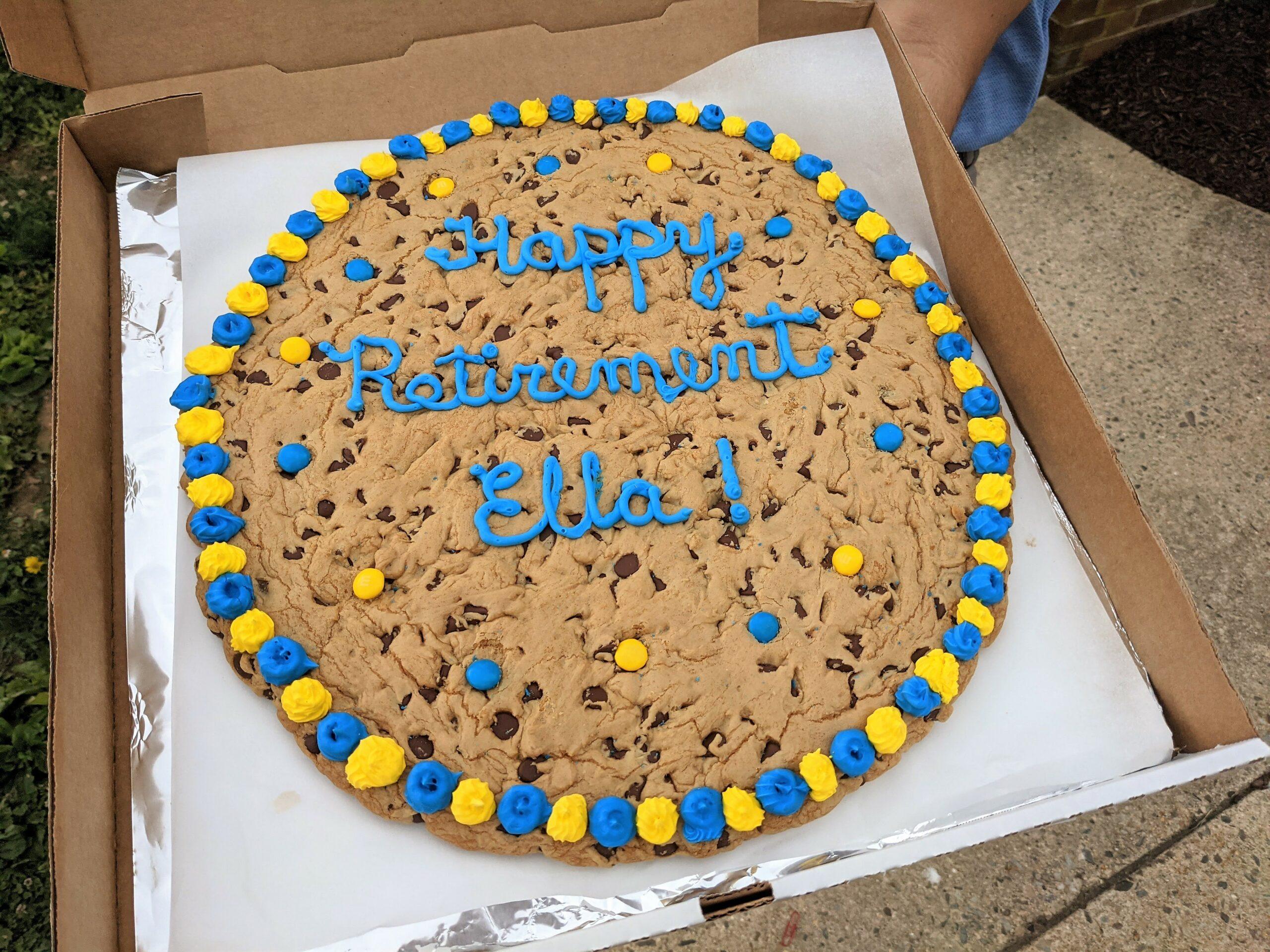 Cookie presented to Ella Sensenig
