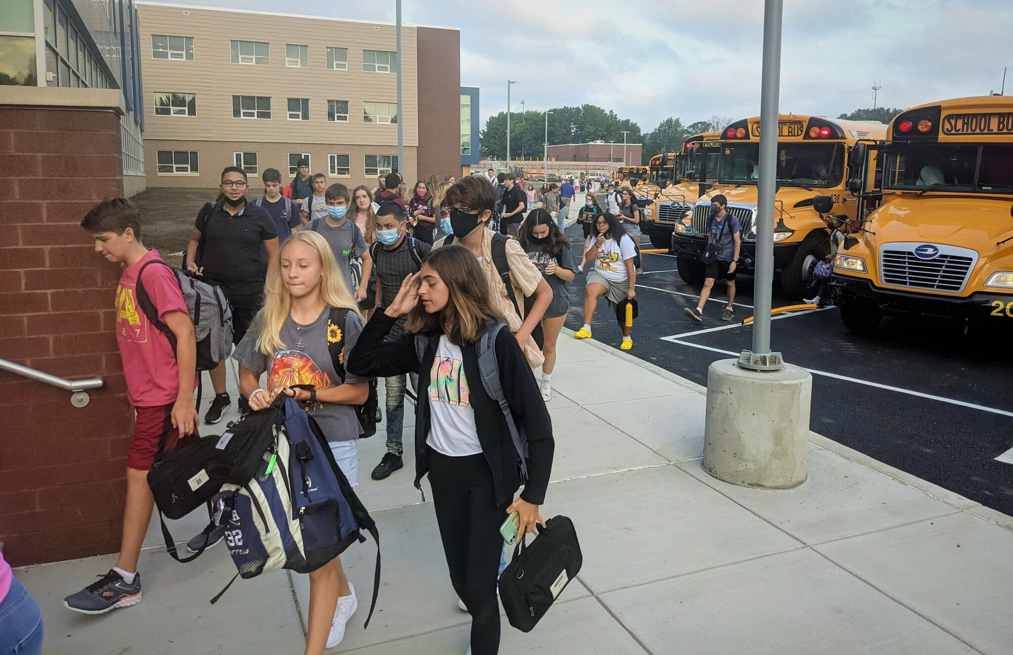 Students enter the high school