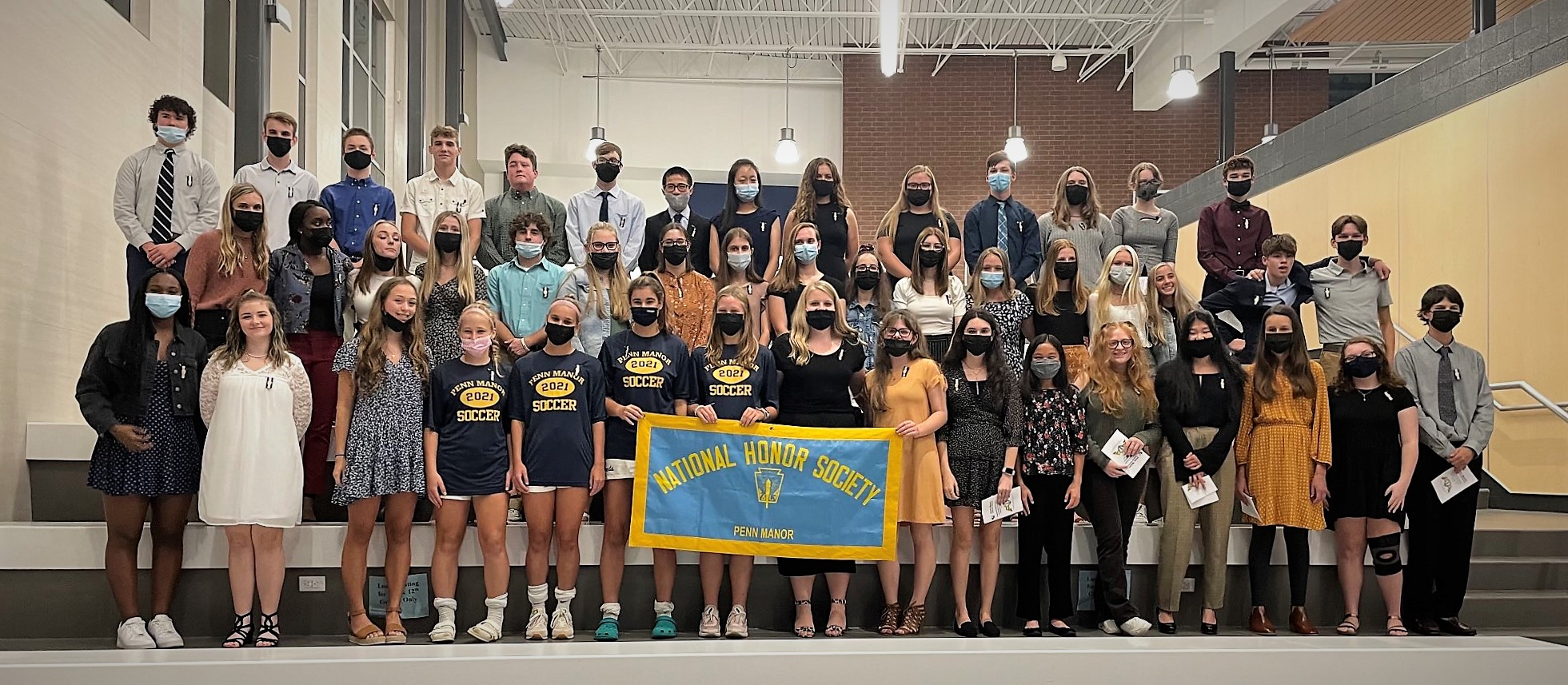 New members of the Penn Manor chapter of the National Honor Society.
