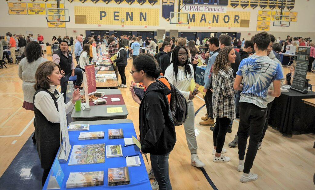Education Day activities in the Penn Manor gymnasium.